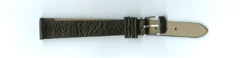 Black Skin Print Leather Watch Strap 12mm (Silver Buckle)